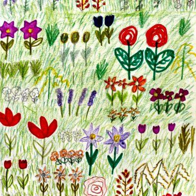 Fantasieren mit Pflanzen und Tieren III – Zeichnung Angelina