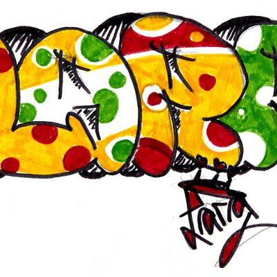 Street Art Safari – Zeichnung Lara