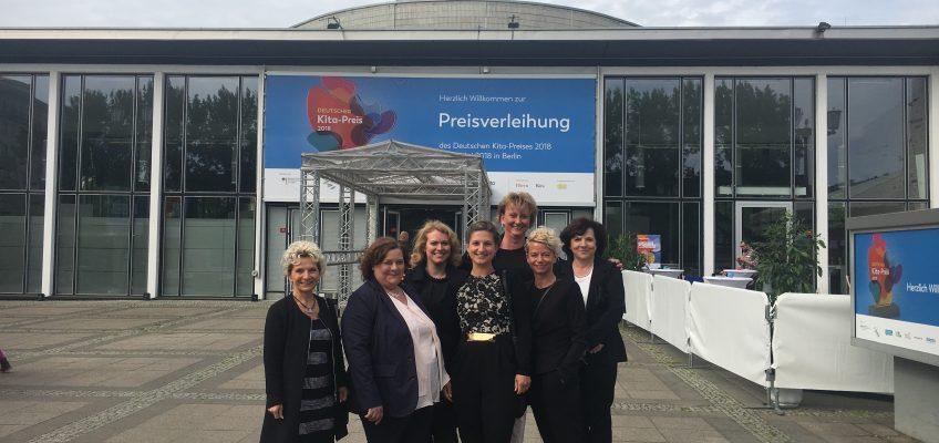 Kita Reidekäfer bei der Verleihung des 1. Deutschen Kita-Preises