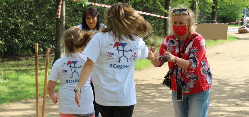 Das SCHIRM-Projekt läuft den HALLIANZ-Spendenlauf