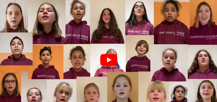 Die Kindersingakademie der Stadt Halle wünscht ein frohes und besinnliches Weihnachtsfest!